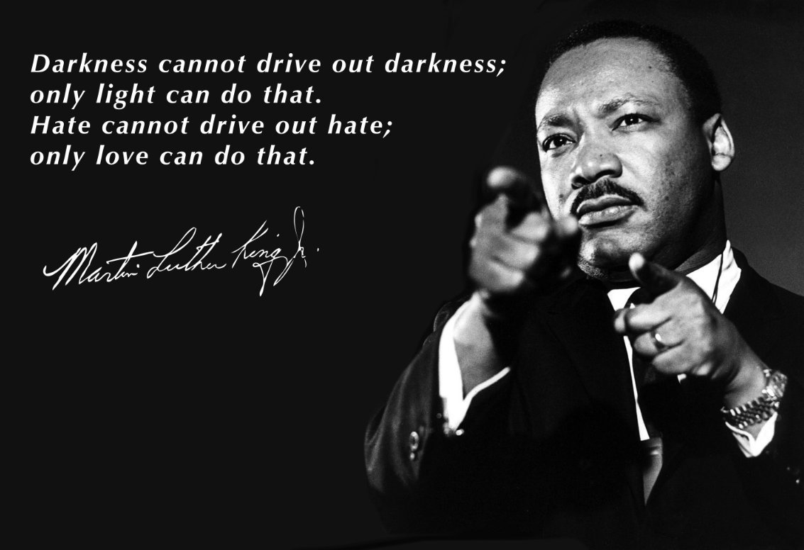 Amazon.com: Martin Luther King Jr 13x19 Poster With Darkness Cannot Drive  Out Darkness Quote: Handmade