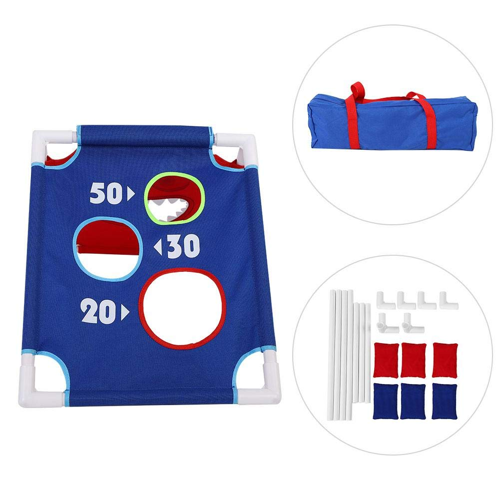 VGEBY1 Bean Bag Toss Game Set, Throwing Bean Bag Game Board Portable Toss Across Set of 1 Board and 6 Beanbags for Indoor Outdoor Play by VGEBY1 (Image #1)