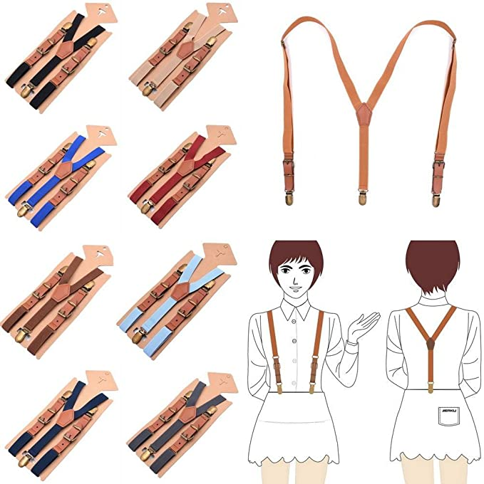 COMVIP Adult Child Fashion Y-shape Clips Casual Adjustable Strap Suspenders