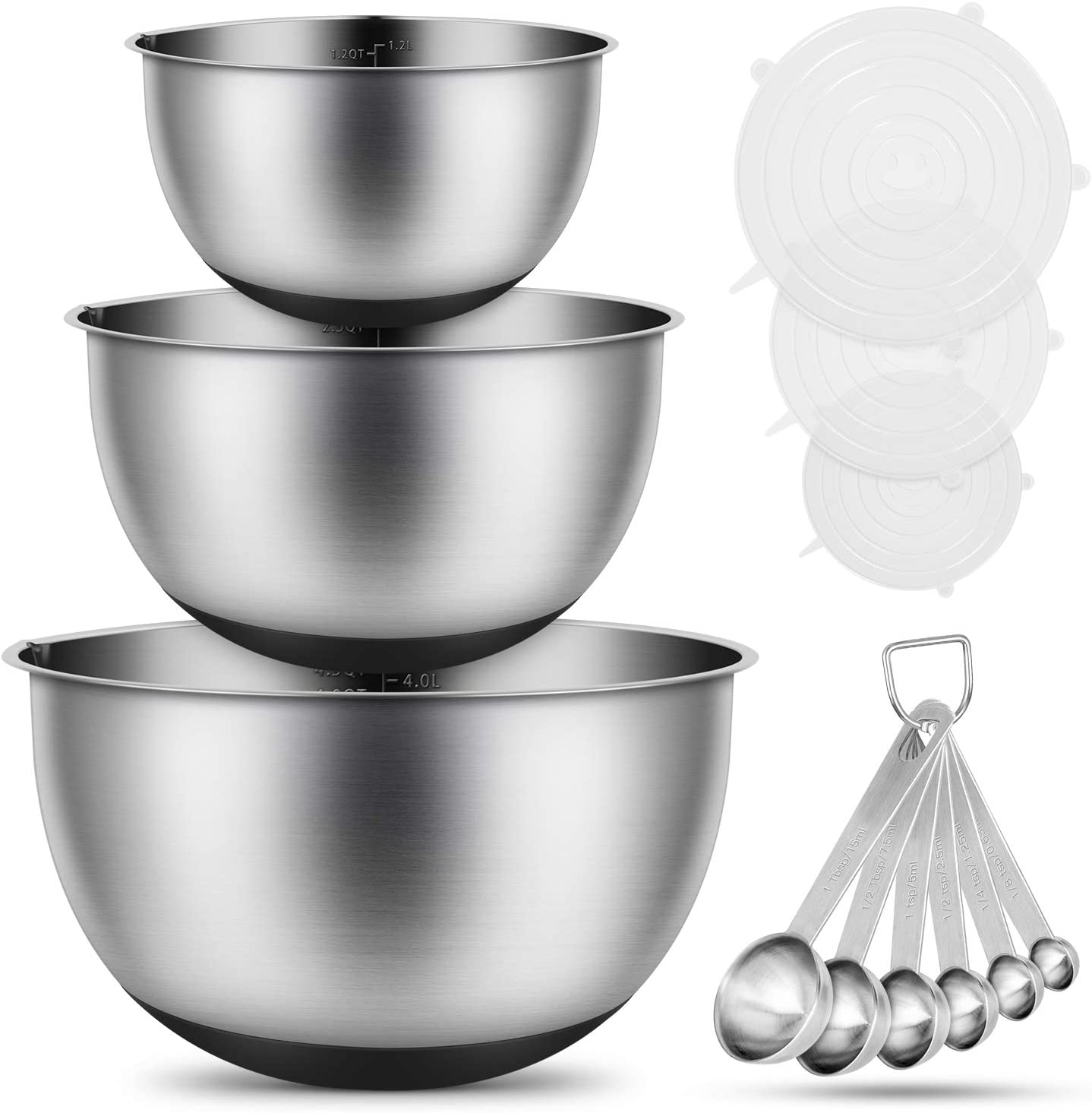 Stainless Steel Mixing Bowls Airt Save money Kitchen Max 58% OFF Set with