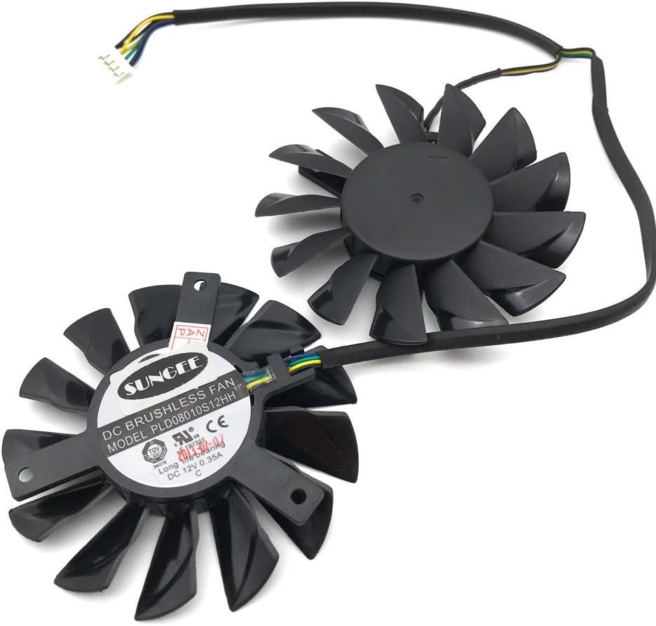 PLD08010S12HH 12V 0.35A 75mm 52x52x52mm MSI Hawk R7850 HD7850 HD7950 R7870 HD7870 GTX650 4Pin Dual Cooler Fan