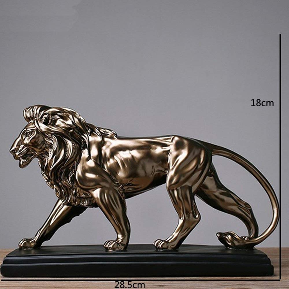 Edttllk Resin Crafts Vintage Creative Home Decoration Beast Lion Office Decoration It Combines Beautiful Shapes and State-of-The-Art Craftsmanship to add Color to Your Home décor.