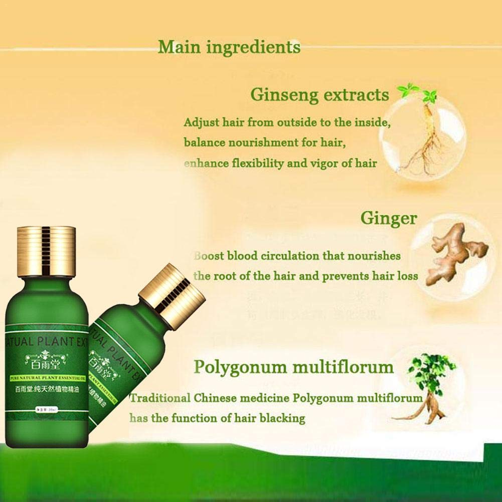 Serum para el crecimiento del cabello Aceite esencial para el cuidado del cabello Ginseng Serum para el crecimiento del cabello Prevenir la caída del ...
