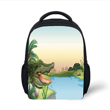 c6f6253df84d5f Amazon.com  iPrint Kids School Backpack Reptiles