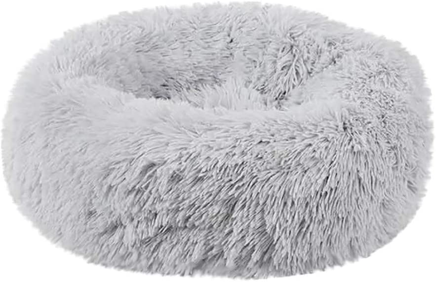 DaySiswong Calming Bed for Dogs, Comfortable Plush Kennel Dogs Pet Litter Deep Sleep PV Cat Litter Sleeping Beds