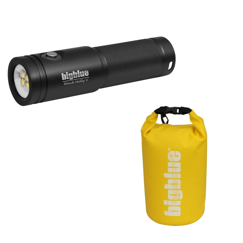 BigBlue AL2600XWP-II 2600 Lumen Extra-Wide Beam LED Dive Light-Black