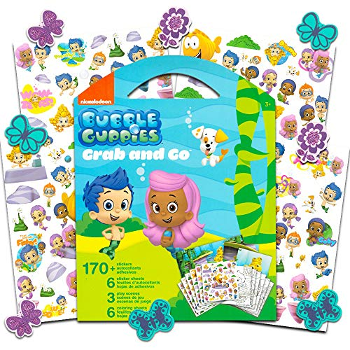 Bubble Guppies Sticker Coloring Activity Set Bundled with Specialty Separately Licensed GWW Reward Sticker]()