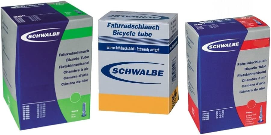 Schwalbe - Cámara de aire para bicicleta (SV13, 40/62-559 mm, 26 x ...