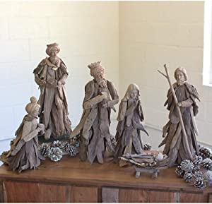 KALALOU PFL1026 SET/6 DRIFTWOOD NATIVITY