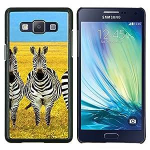 Stuss Case / Funda Carcasa protectora - Savannah África Amarillo Negro Blanco - Samsung Galaxy A5 ( A5000 ) 2014 Version