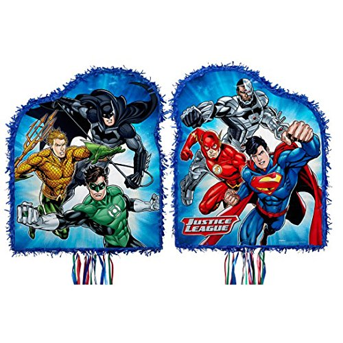 Ya Otta Pinata Justice League Pull String Pinata, Multi-colored, One Size]()