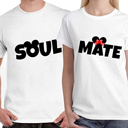 30674b2525 Buy DreamBag Couple T Shirts - Soulmate Unisex Couple T-Shirts ...
