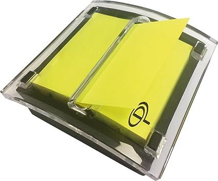 Pergamy 900906 - Dispensador con bloc de notas, color amarillo neón