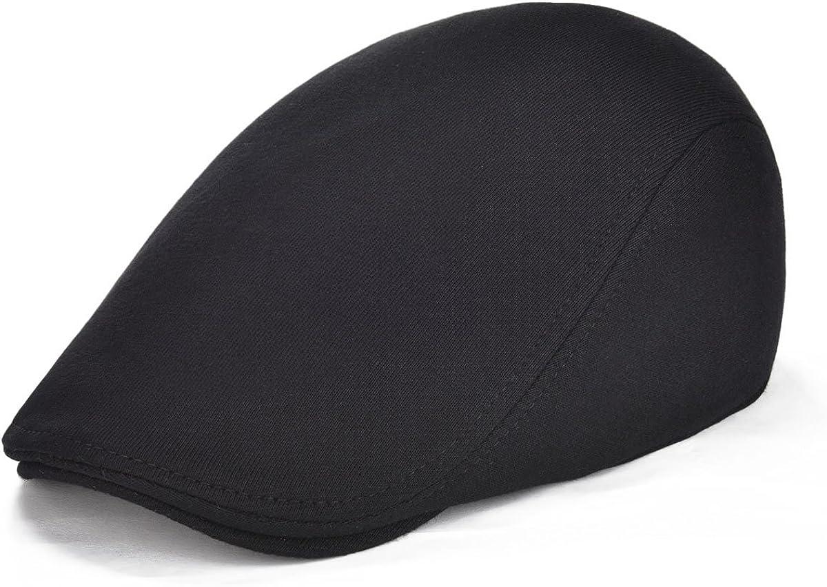 VOBOOM Men's Cotton Flat Ivy Gatsby Newsboy Driving Hat Cap