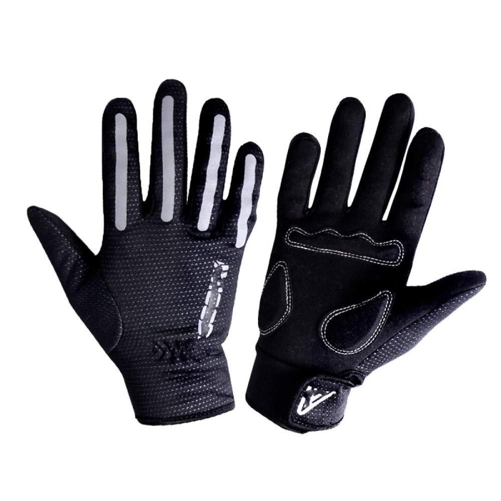 YIWANGO Alle Finger Reiten Handschuhe Lange Männer Und Frauen Mountainbike,schwarz-S