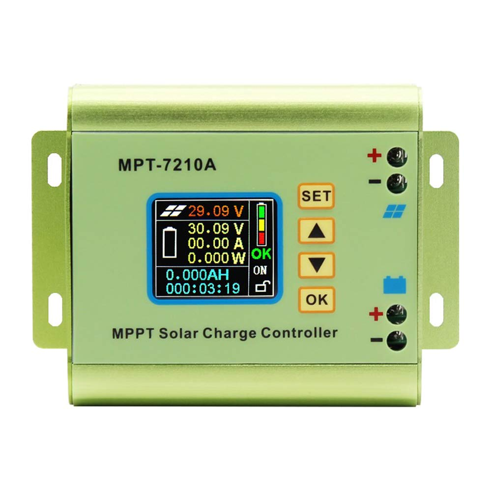 Horsebiz LCD Monitor MPPT Solar Panel Charge Controller MPT-7210A 24-72V 10A Boost Solar Battery Regulator