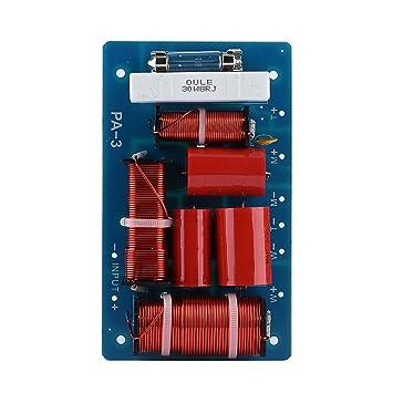 Tihebeyan Frequenzteiler 3-Wege-Frequenzweiche Audio Frequenzteiler HiFi-Audiofilter-Modulplatine f/ür Hochleistungslautsprecher