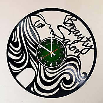 Personalized Hair Salon Stylist Name Logo Gift Art Sign Beauty Parlor Wall Clock
