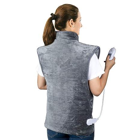 HailiCare 60 x 100cm Almohadilla Térmica Eléctrica, Manta Electrica para la Espalda, Hombros, Cuello y Cuerpo Completo, 3 Niveles de Temperatura ...