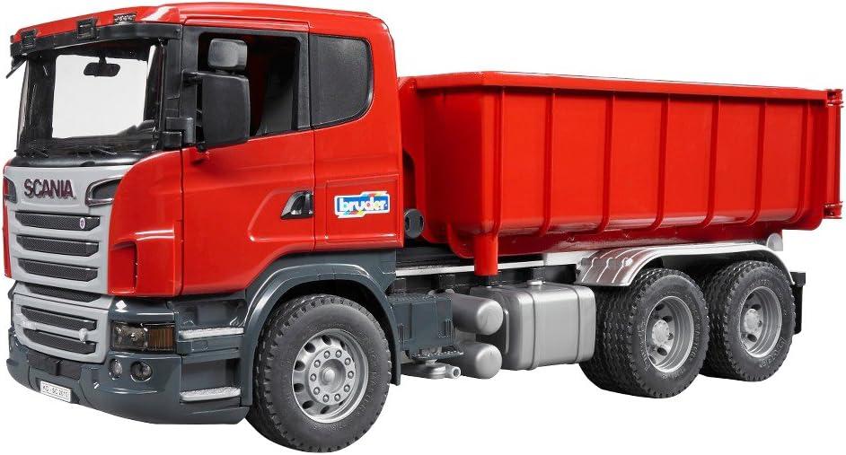Bruder Scania R-Series with Roll-Off-Container vehículo de Juguete - vehículos de Juguete (Rojo, Plata, 3 año(s), 1:16, 188 mm, 535 mm, 205 mm)