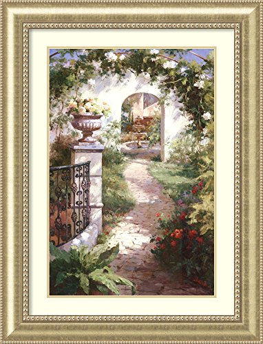Framed Art Print 'Flowered Archway' by Haibin