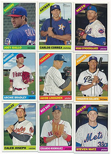 (2015 Topps Heritage High Number Series MLB Baseball Basic 200 Card Set with Rookies Complete M (Mint))