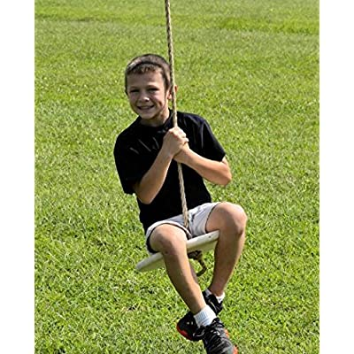 Carolina Custom Swings, LLC Wooden Disc Tree Swing : Garden & Outdoor