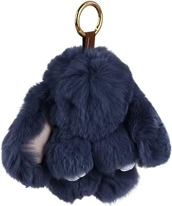 TOYANDONA Plush Bunny Pendant Lovely Soft Rabbit Keyring Fluffy Keychain Bag Decoration Girls Women (Pink)
