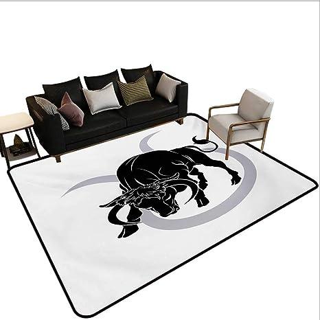 Superb Amazon Com Indoor Floor Mat Black Silhouette Of Animal Ox Cjindustries Chair Design For Home Cjindustriesco