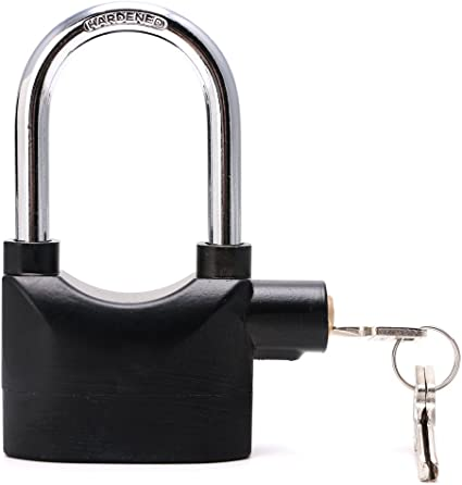 Alarmed Heavy Duty Padlock Loud Siren for Bike Cycle Bicycle Shed Security Lock