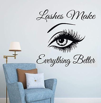 home wall of.htm amazon com pigeontoeceramics eyelashes wall sticker eyebrows  amazon com pigeontoeceramics eyelashes