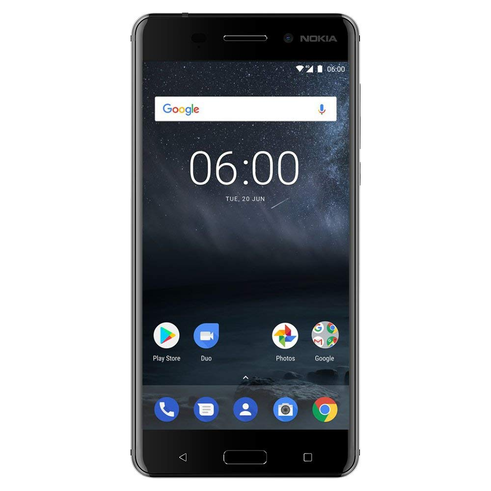 "Nokia 6 - Android 9.0 Pie - 32 GB - Dual SIM Unlocked Smartphone (AT&T/T-Mobile/MetroPCS/Cricket/Mint) - 5.5"" FHD Screen - Black - U.S. Warranty"