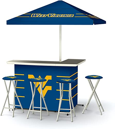 Best of Times Collegiate Patio Bar and Tailgating Center Deluxe Package- West Virginia