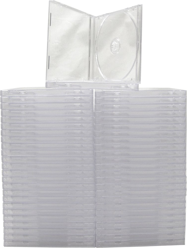 Mediaxpo Brand 25 STANDARD Clear CD Jewel Case