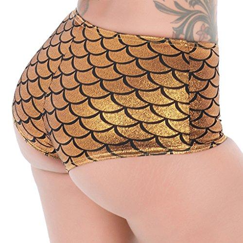 LinvMe Damen Sexy Erotische Slips Boy Shorts Unterwäsche Gold ...