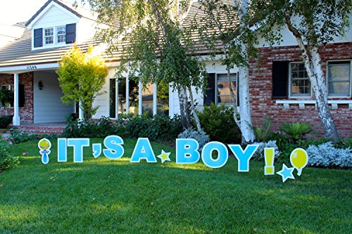 (It's A Boy! Outdoor Announcement Decoration Card, Yard Sign Comes 22 Inches high with)