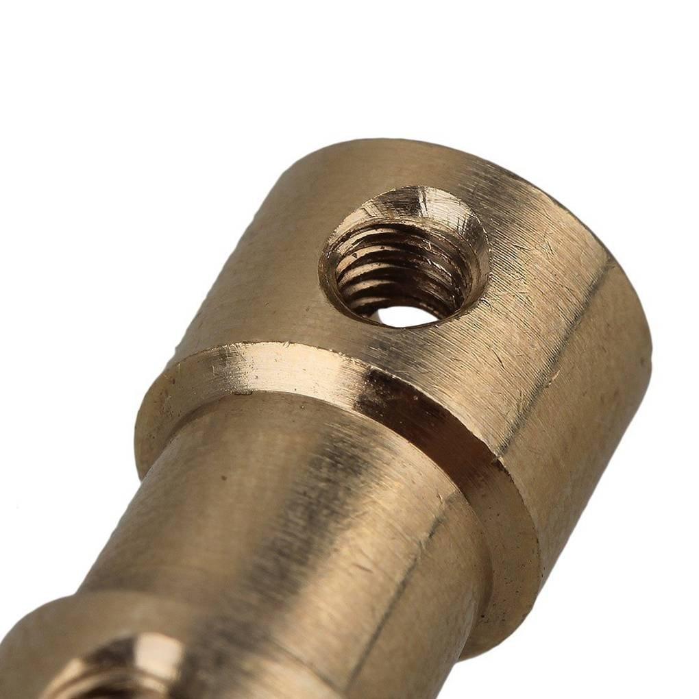 republe Goldenes Messing Steifen Wellen Adapter-Stecker Kupplung Kupplung Motor Getriebe Golden Brass Stecker mit Schrauben-Schl/üssel