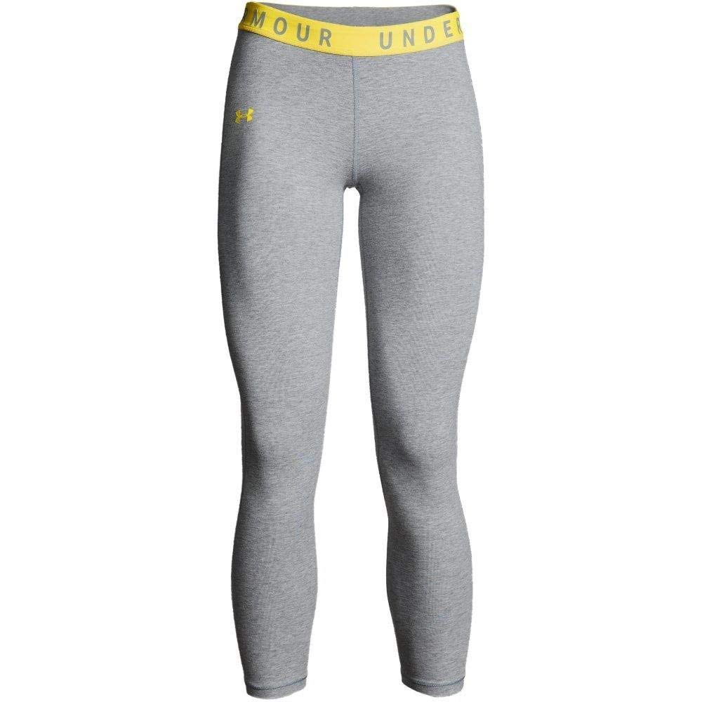 Under Armour Women's Favorites Crop Pants, Steel Light Heather (035)/Black, Small