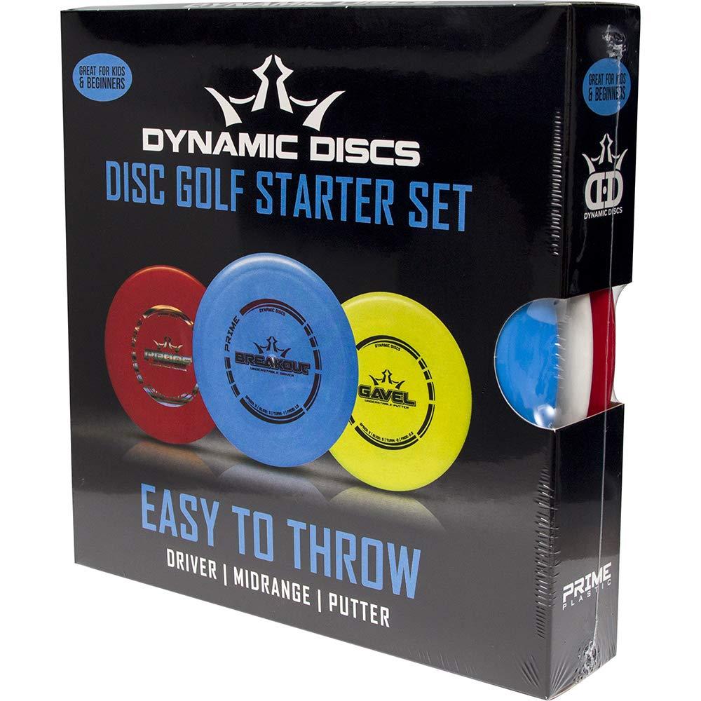 Dynamic Discs Easy To Throw Prime Burst Disc Golf Starter Set 145-159g – Prime Burst Plastic – Lightweight Discs for Kids and Beginners