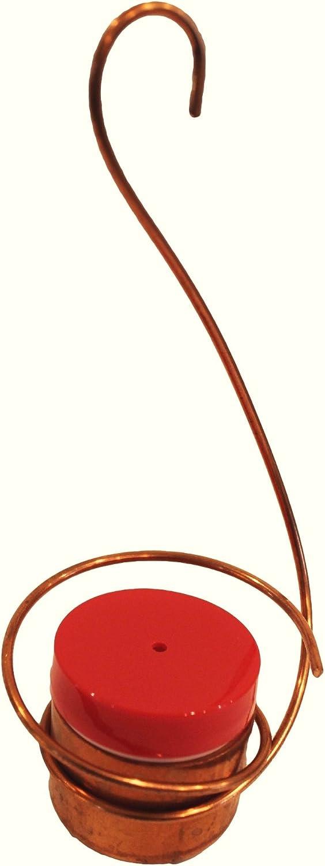 Copper Hummingbird Feeder - Original Handmade Design, Drip-Free, Bee and Wasp Proof