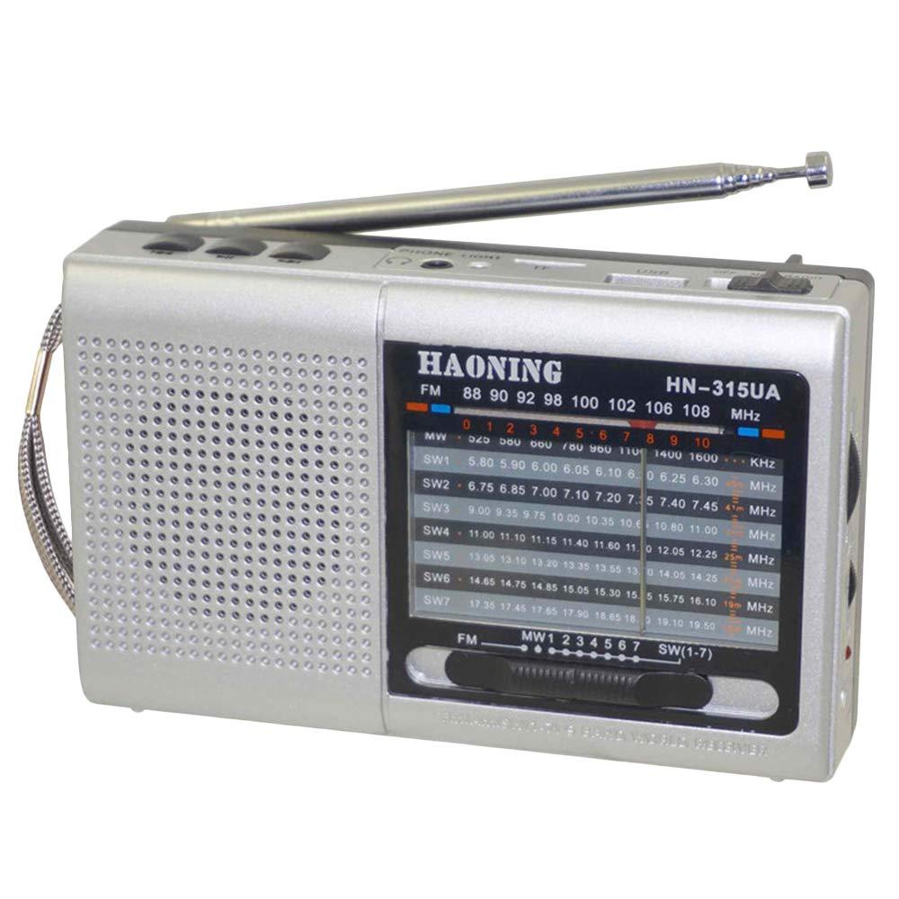 Household appliances Support TF Card U Disk Full-Band Radio, Retro pin-Type Three-Band Radio, Multifunctional Old Radio Speaker AOYS