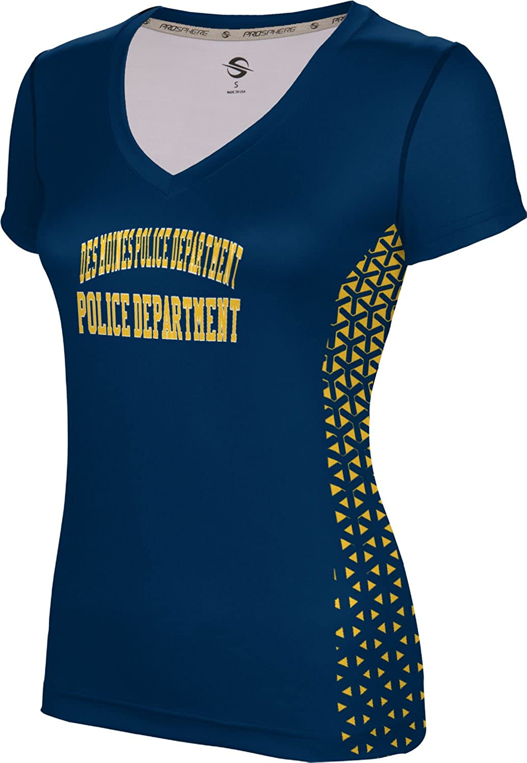 ProSphere Women's Des Moines Police Department Geometric SL V-Neck Training Tee