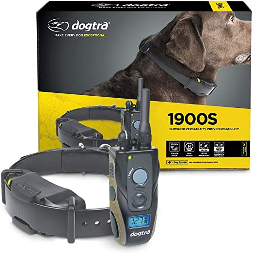 Dogtra 1900S Series Ergonomic 3/4-Mile IPX9K Waterproof High-Output Remote Dog Training Outdoor E-Collars