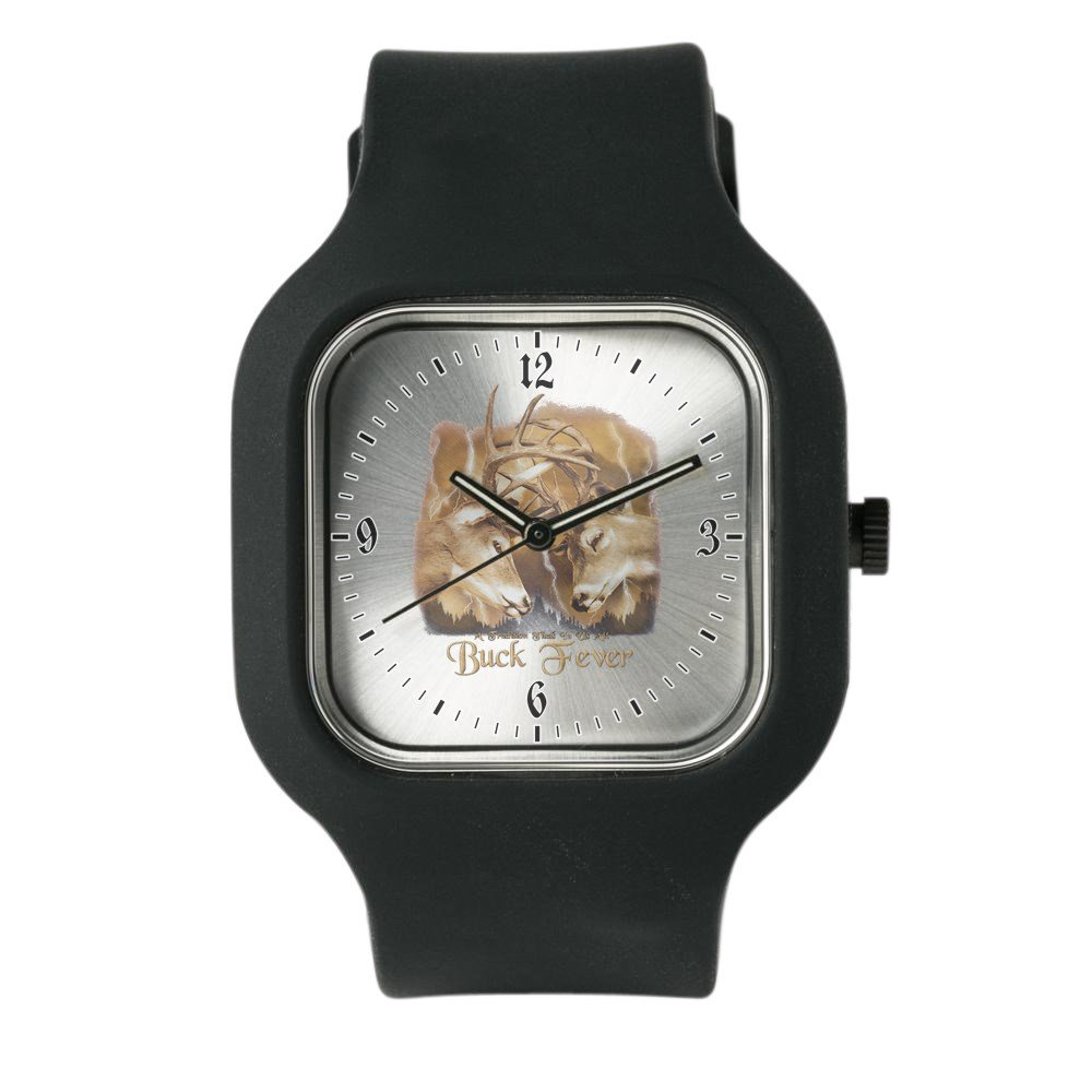 Black Fashion Sport Watch Buck Fever Deer Hunting