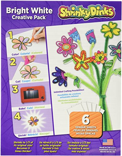 Shrinky Dinks Bright White 6 Sheet Creative Pack for sale  Delivered anywhere in Canada