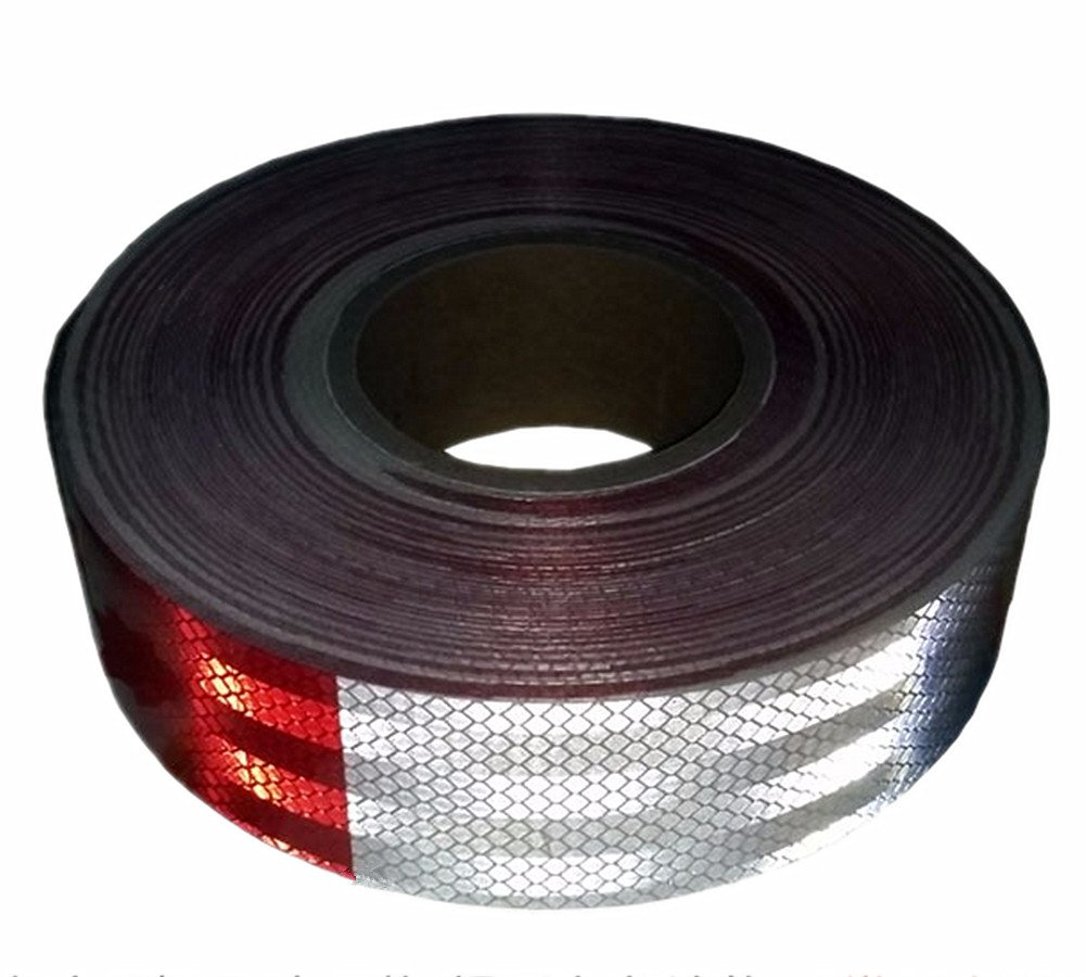 Moyishi Reflector DOT Tape Roll,30PCS 9 Meters Red//White Caution Safety Warning Reflective Visibility Film,Truck Car Trailer Adhesive Sticker