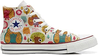 Converse All Star Hi Chaussures Coutume Mixte Adulte (Produit Artisanal) Autumn Forest