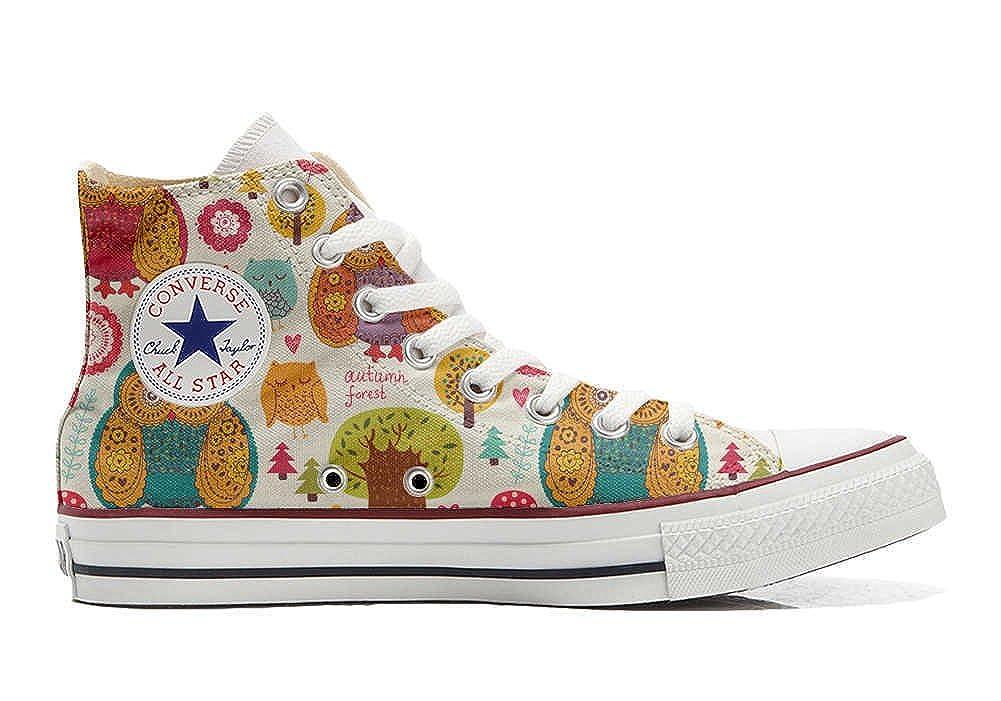 Converse Custom - personalisierte Schuhe (Handwerk Produkt) Autumn Forest  46 EU