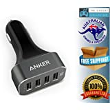 Anker A2312011 48W 4-Port USB Car Charger for Apple, Samsung, Nexus, HTC, Motorola, Nokia