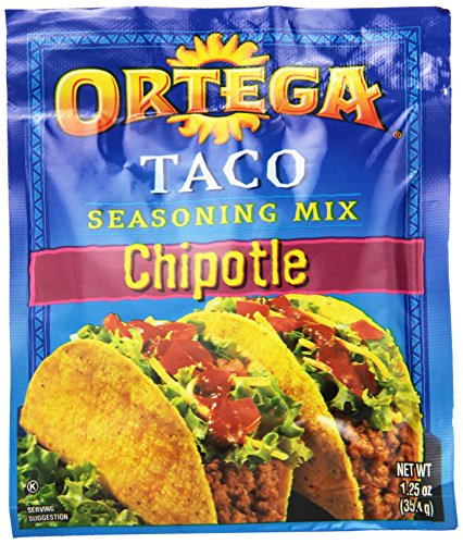 - Ortega Seasoning Mix, Chipotle Taco, 1.25 Ounce (Pack of 24)